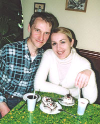 John and Tatiana, May, 2004