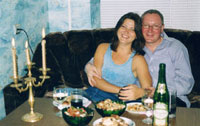 Dennis and Natasha, July 2003